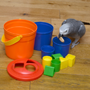 Activity Bucket Parrot Toy